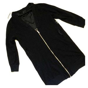 Zara back zip cardigan
